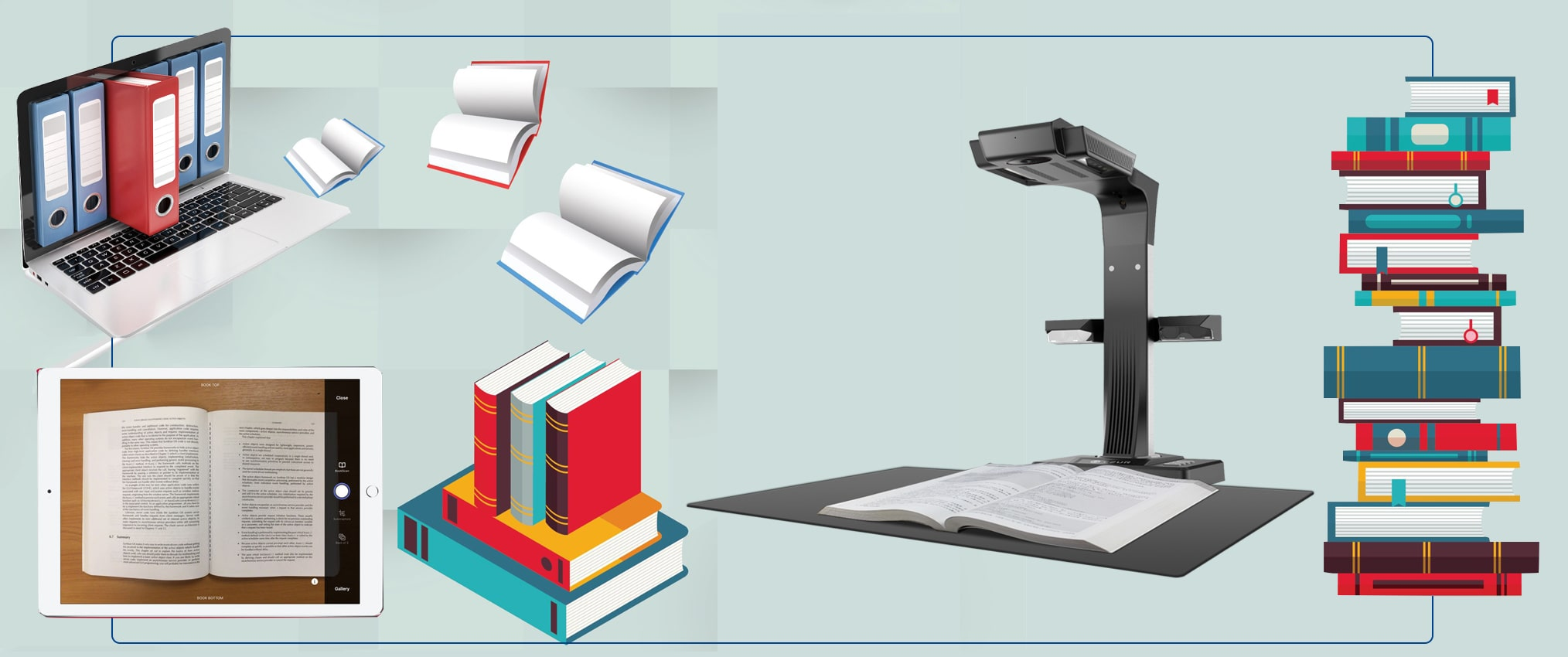 convert a book to pdf with book scanning services